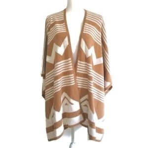Mossimo Sweater Poncho Shawl Aztec Tribal Sm / Med